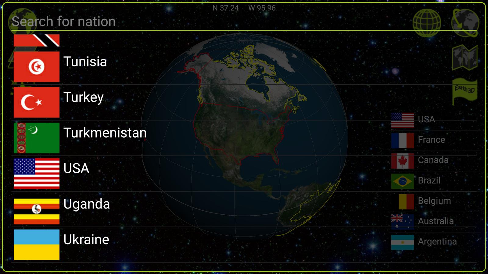 Earth 3D- screenshot