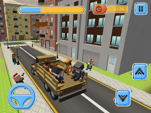 Blocky Vegas Crime Simulator:Prisoner Survival Bus image   12