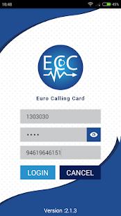 Euro Calling Card - náhled