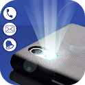 Flash alerts On Call SMS: Color Flashlight & Alarm icon