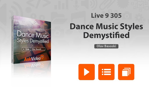 Dance Music Course For Live