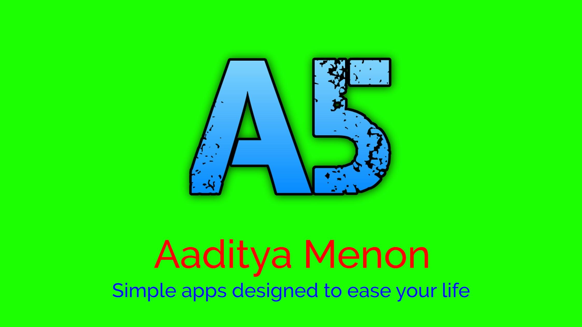 Aaditya Menon