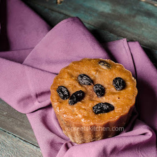Steamed Coconut & Raisin Pudding