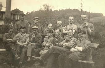 Photo: Wünschendorf im Erzgebirge  Sachsen  Arbeiter der Seifertmühle  etwa 1950