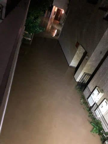 大風19号の自宅付近の浸水状況