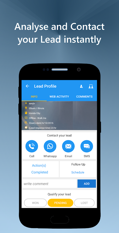 Clipbots: Lead Management App- screenshot