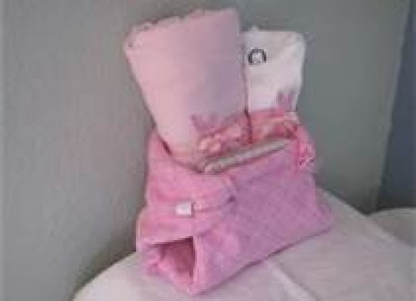 And lets not forget the large diaper made from a baby blanket or baby...