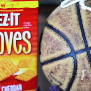 Cheezy Loaded Baked Potato Basketball Dip with Cheez-Its