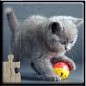 Puzles de gatos niños gratis icon
