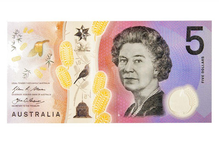 "5 dollar Australia's new note displays a novel top-to-bottom window feature, which is as much about anticounterfeiting as aesthetics. Rounding it out, the Queen of England shares top billing with the eastern spinebill and examples of the ""prickly Moses"" wattle, a type of tree."