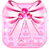 Tải Game Pink SMS Keyboard Theme Diamond Ribbon