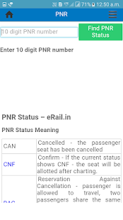 Train Running Status & PNR QUERY Status. - náhled