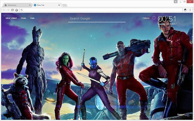 Marvel Comics Wallpapers HD New Tab Theme