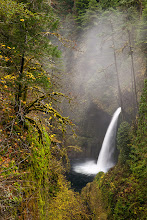 Photo: Just a quick post for today -- Metlako Falls with a little bit of fog. I pretty much always seem to see fog at this spot. I guess that is probably because I never hike Eagle Creek unless it is cloudy and rainy.
