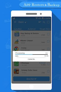 App Backup & Restore All Data - náhled