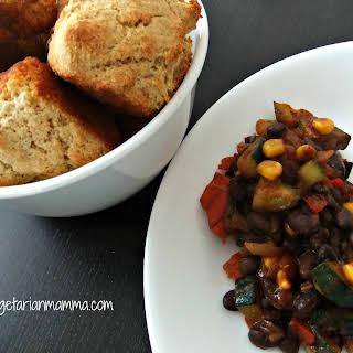 Southwest Beans with Cornbread.