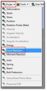 ANSYS Инструмент «Сила реакции»