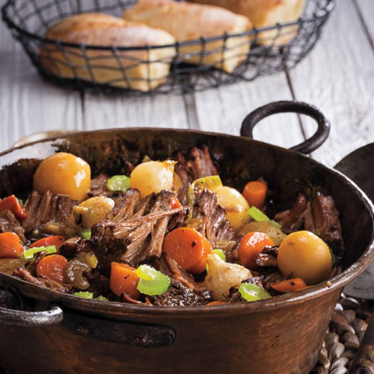 4-Ingredient Slow Cooker Pot Roast