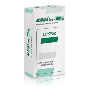 Aranda 5/100Mg Cápsulas   Caja x30Cap Farma Amlodipino Losartán Potásico