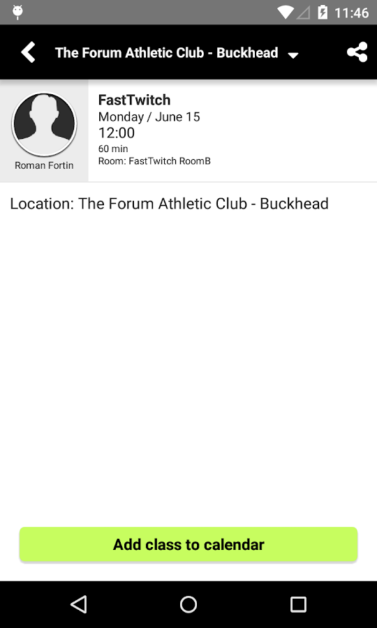 The Forum Athletic Club- screenshot