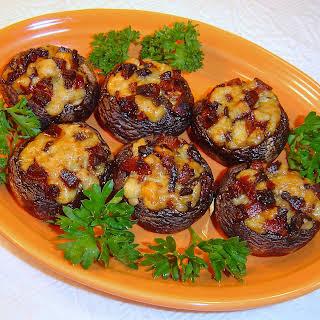 Spanish Stuffed Mushrooms with Chorizo and Manchego.