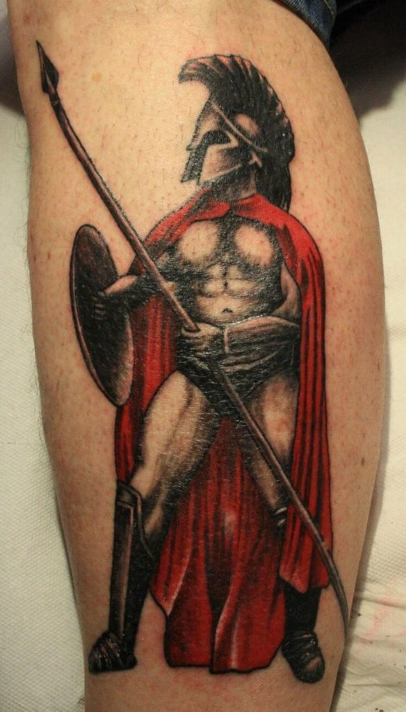 traditional spartan tattoo ideas