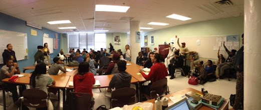 Photo: Workshop on street harassment, facilitated by Chantelle at the Philly Youth Poetry Movement