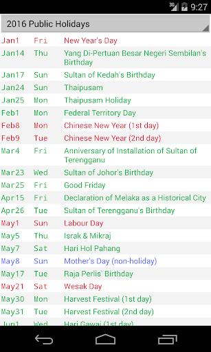 玩免費生產應用APP|下載Malaysia Calendar 2017 app不用錢|硬是要APP