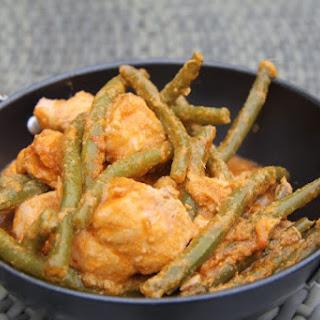Red Thai Salmon Curry.