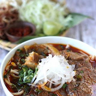 Bun Bo Hue, Vietnamese spicy beef noodle soup