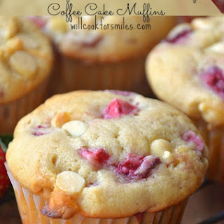 Strawberry White Chocolate Chip Coffee Cake Muffins
