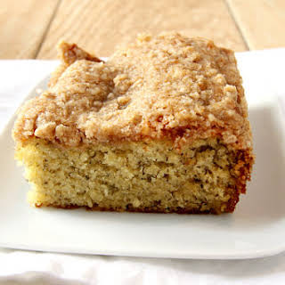 Banana Coffee Cake with Streusel Topping.