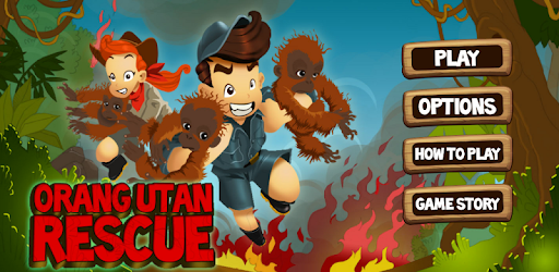 Be a hero: save real Orangutans and the rainforest by rescuing them in our game!
