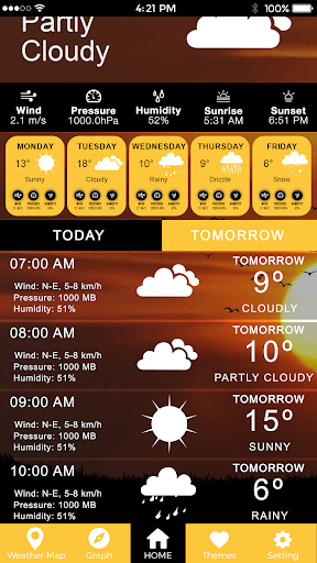 Screenshot for Todays Weather, Weather Today & Tomorrow Forecast in United States Play Store