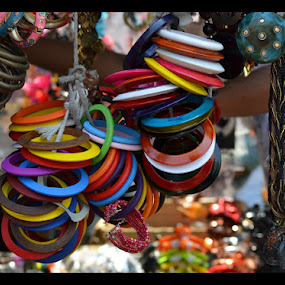 Colourful Bangles by Ruhi Chanda - Abstract Patterns ( abstract, new market, patterns, calcutta, colors, streets, bangles, photography )