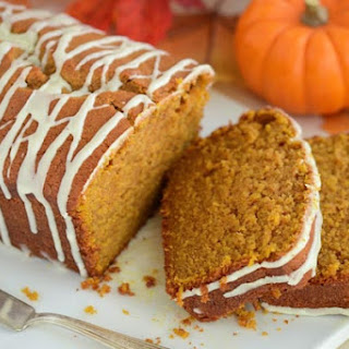 Pumpkin Spice Pound Cake with Orange Glaze