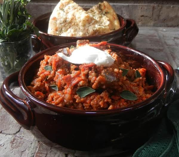 Italian Style Game Day Chili With Quick Focaccia Recipe