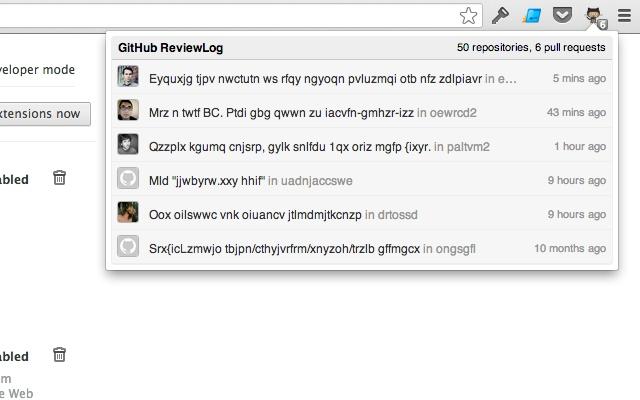 GitHub ReviewLog