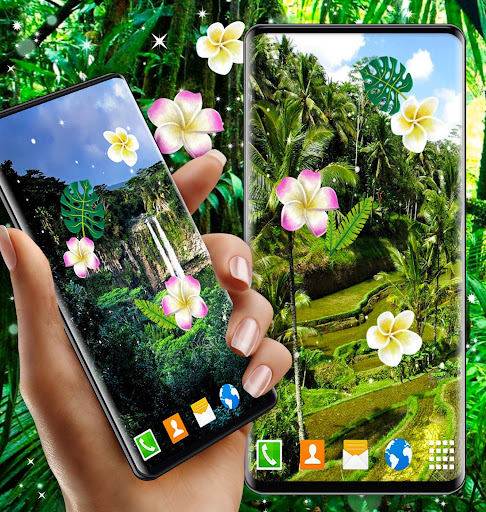 Jungle Live Wallpaper 🌴 Palm Forest Themes ss3