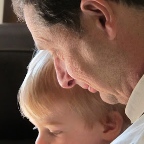 Grandad and Grandson by Vicki Clemerson - People Family ( love, child, grandfather, . boy, child boy, grandad, toddler, people, man,  )