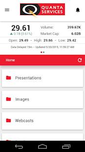 Quanta Services IR- screenshot thumbnail