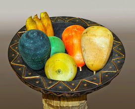 "Photo: Ed Karch 14"" x 3' African Hospitality [cherry, palm, maple, brass, copper]"