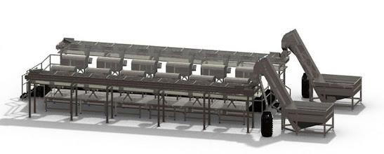 Photo: Gas Vapor S.L. - www.gv.iei.es Instalación de Maquinaria Alimentaria-Linea de Deshueso