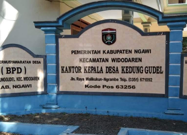 profile desa kedunggudel kabupaten Ngawi