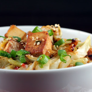 Sweet and Sour Cabbage With Tofu.