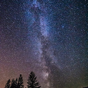 milkyway by Mihai Bratu - Landscapes Starscapes ( sky, night photography, stars, long exposure, romania, nightscape, milky way,  )