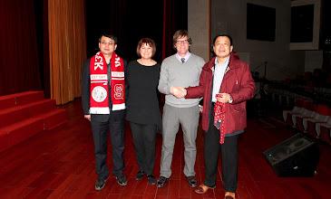 Photo: Charles Pei, BRS Principal; Hiller Spires; John Lee; Mr. Wang