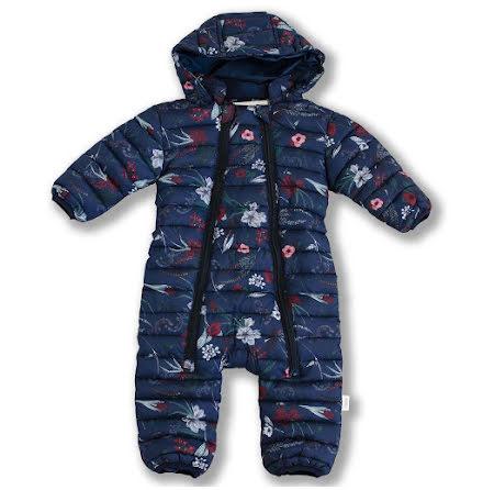 Damon - Blommönstrad vadderad overall till baby