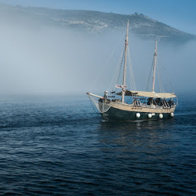Pirates by Miho Kulušić - Transportation Boats ( foggy, dubrovnik, sailing, sailboat, boat,  )