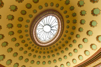 Photo: One of the ceilings and skylights at the Eisenhower Executive Office building